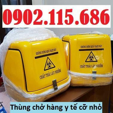 Thùng chở chất thải nguy hại, thùng vận chuyển chất thải nguy hại, thùng chở rác y tế, thùng vận chuyển rác y tế, thùng chở hàng y tế bằng xe máy, 0