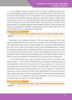 10. Sınıf Tarih Ders Kitabı Cevapları İlke Yayınları Sayfa 17