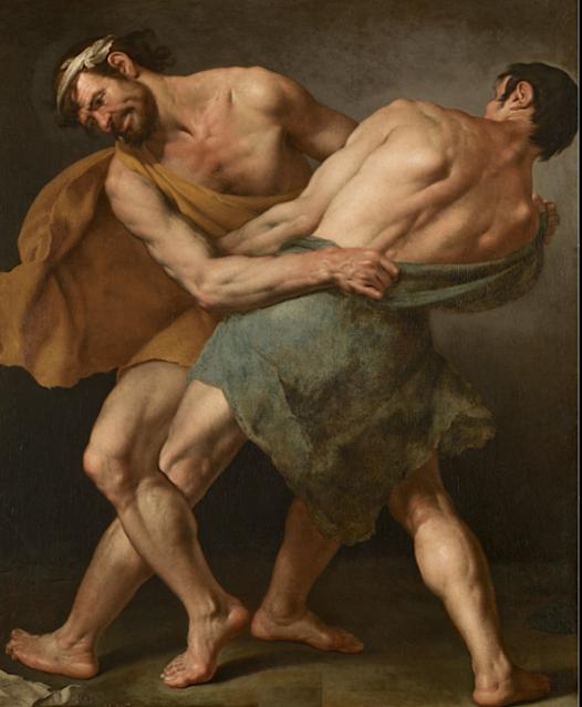 Cesare Fracanzano (1605-1651) Deux Lutteurs, 1637 Huile sur toile, 156 x 128 cm, Museo del Prado, Madrid