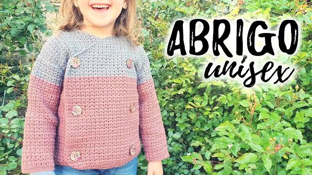 Cómo tejer Abrigo Unisex para Niño o Niña a Crochet