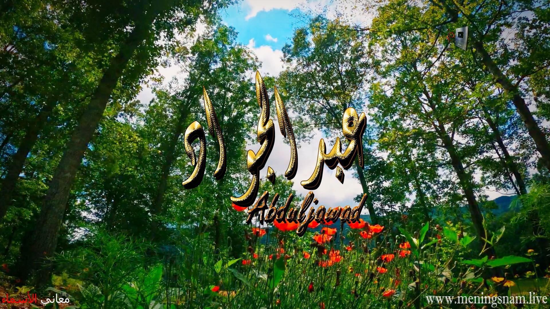 معنى اسم عبد الجواد وصفات حامل هذا الاسم Abduljawad