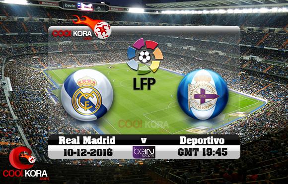 مشاهدة مباراة ريال مدريد وديبورتيفو لاكورونيا اليوم 10-12-2016 في الدوري الأسباني