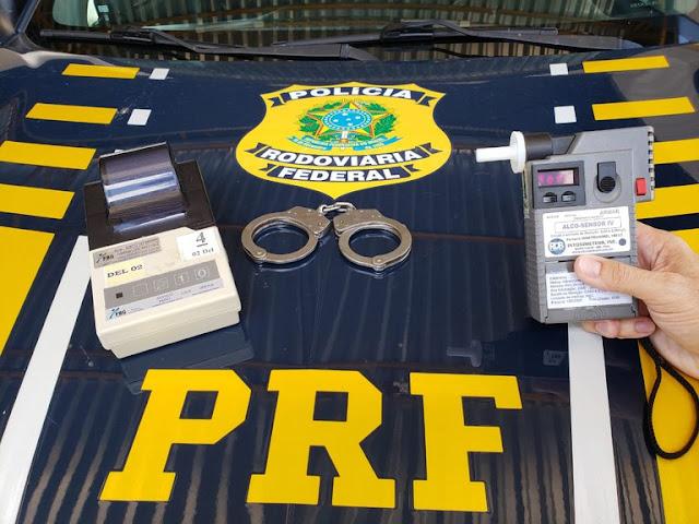 PRF prende dois condutores sob influência de álcool no interior do RN