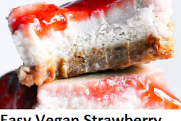 Easy Vegan Strawberry Cheesecake