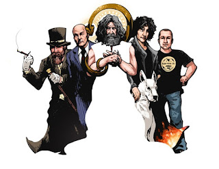Alan Moore, Neil Gaiman, and Grant Morrison