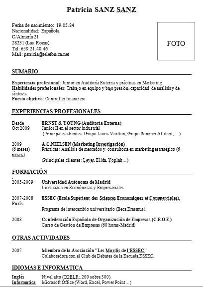 Formato Standard Curriculum Vitae Firmakoek