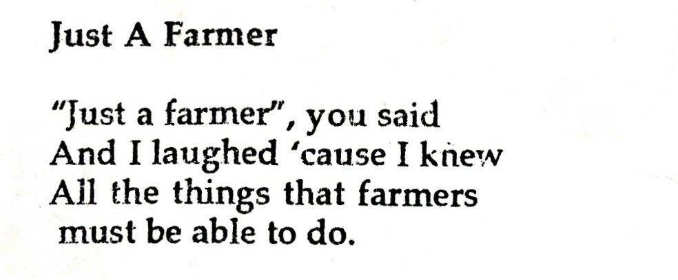 just a farmer