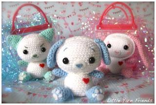 Cat, dog, bunny amigurumi--Free crochet amigurumi pattern for a cat, dog or bunny