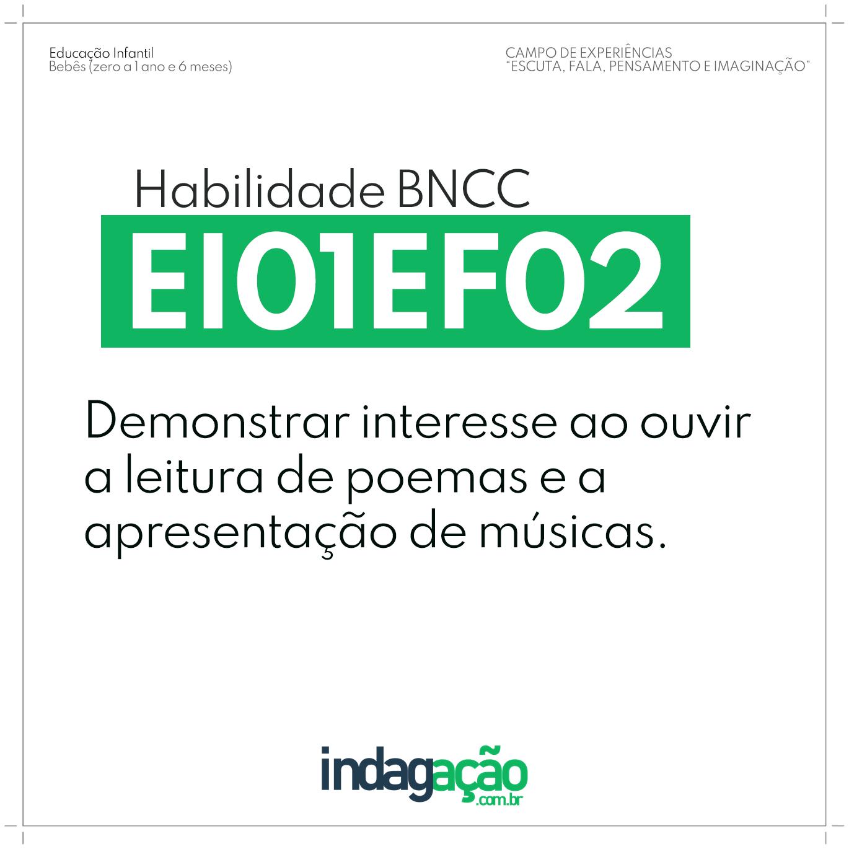 Habilidade EI01EF02 BNCC
