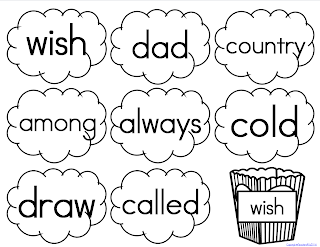 Sight Words High Frequency Words Memory Words Popcorn