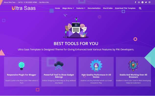 Blogger Template Ultra Saas