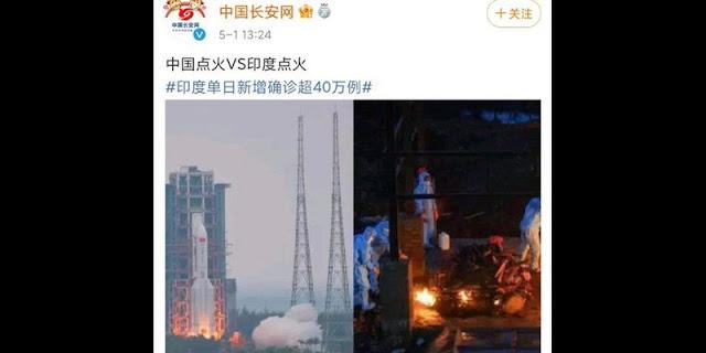 Bandingkan Api Kremasi Massal India Dengan Peluncuran Modul Ke Luar Angkasa, Pemerintah China Diserang Habis-habisan