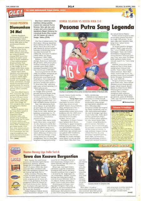 KORSEL VS KOSTA RIKA 2-0 PESONA PUTRA SANG LEGENDA