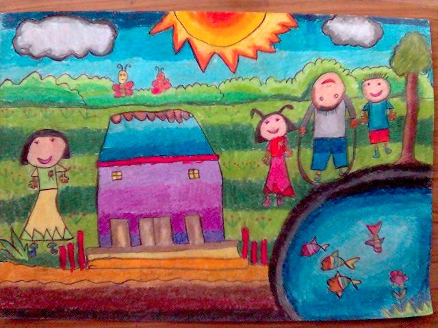 Karya Hasil Seni Lukisan Anak Sd Gambar