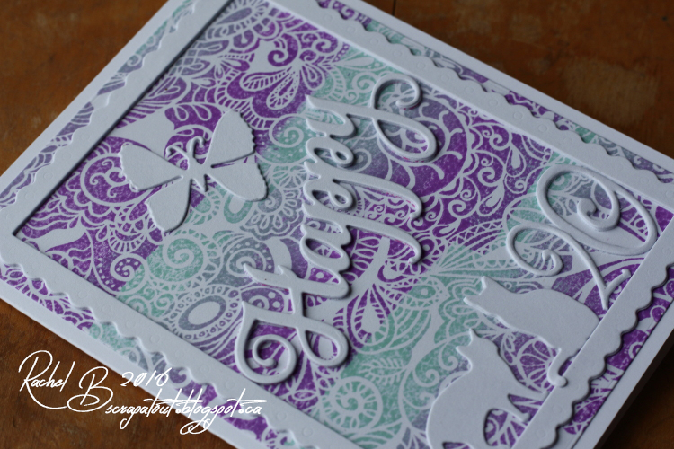 Scrapatout - Handmade card, Happy, Birthday, Impression Obsession stamp and dies, Cuttlebug