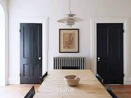 Cat Pintu Kayu hitam