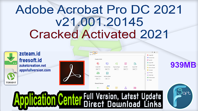 Adobe Acrobat Pro DC 2021 v21.001.20145 Cracked Activated 2021