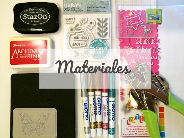 materiales, tutorial, scrap, scrapbooking, scrapbook decoración, adorno DIY, plástico mágico, micron, stazon, charms, handmade, violin cantarin, violín cantarín