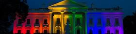 White House dons rainbow hues
