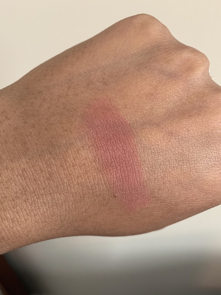 Bobbi Brown Blush in tawny swatch on dark skin