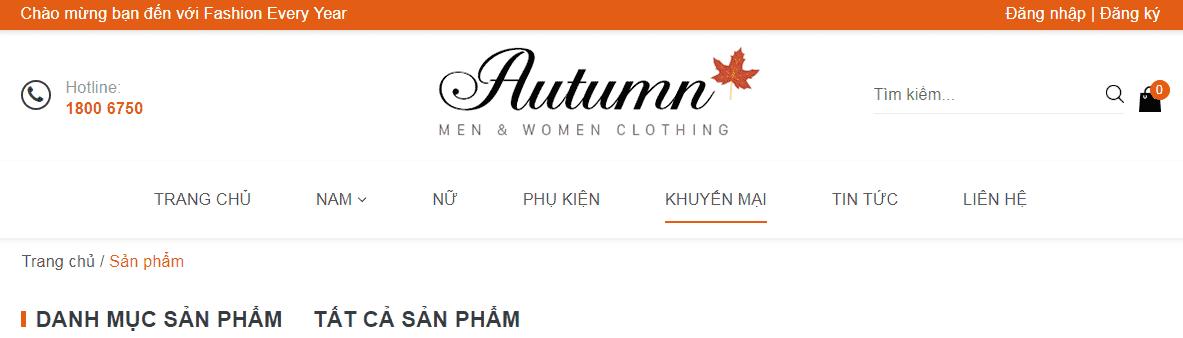 Giao diện blog bán hàng thời trang phụ kiện