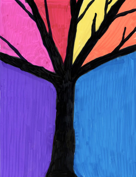 Fall Tree Silhouette Art Projects for Kids