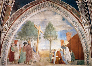 Detail from Della Francesca's stunning History of the True Cross fresco cycle in the Basilica of San Francesco in Arezzo