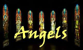 angels in stained glass, overlooking a darkened church - 1 Angels, silently, wisdom unfurled, watching carefully over our world, helping, hovering, guarding and guiding: thin the veil covering angels abiding. 2 Angels, unawares, into their keep, take our many cares, rock them to sleep; whisper, lovingly, words beyond knowing; sing of eternity, guiding our growing. 3 Angels do begin songs that we sing, nurture hope within till it takes wing; link our destiny to one another, trusting we too will be angels to others. 4 Angels, drawing near while we're asleep, beckon, enter here into the deep, transform all regrets and empty scheming. Their sacred silhouettes dance through our dreaming. 5 Angels, when we wake, come, one by one, tasks to undertake till day is done. Feel their tender care, masked though their form be. Angels are everywhere. Welcome them warmly. 6 Angels we will see robed in shalom, come to accompany our spirit home; come to set us free, our last endeavour, so that we too may be angels forever.