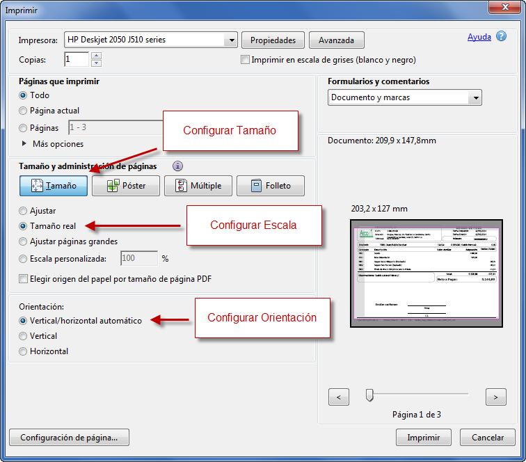 Diálogo de Impresión - Programación de Reportes en eFactory ERP/CRM, Contabilidad, Nómina