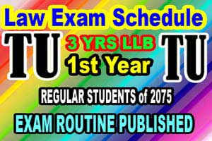 LLB Exam Schedule 2076