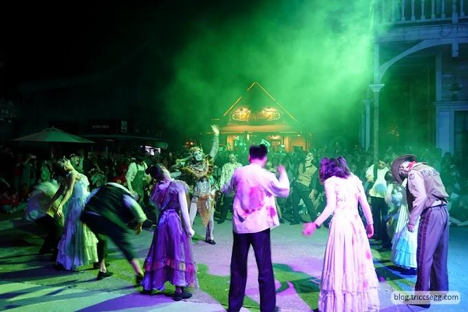 新竹關西鎮 六福村主題樂園之「墓碑鎮」萬聖節活動-享受過節的氣氛。