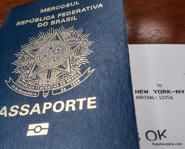 Documentos para viajar aos Estados Unidos