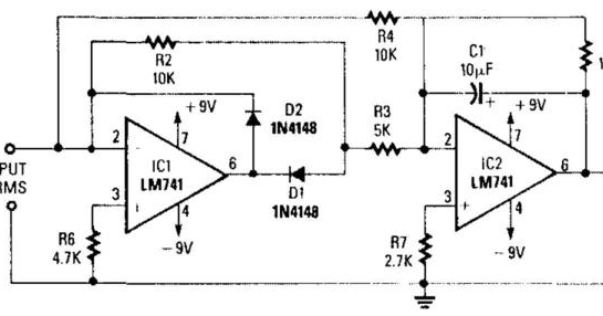 Precision Full Wave Ac Dc Converter Wiring diagram