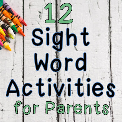 Easy and fun sight word ideas