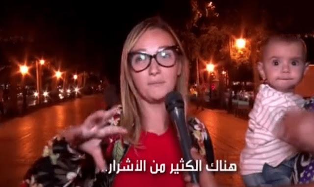 """بالفيديو ... مواطنة ايطالية مصدومة :""""تونس اصبحت مليئة بالاشرار والمجرمين منفذي البراكاجات""""...!"""