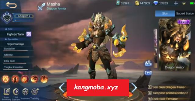 Script Skin Epic Masha Dragon Armor Full Effect Mobile Legends
