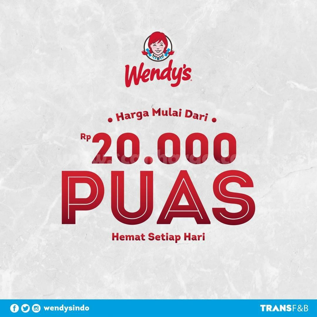 WENDY'S Promo PAKET PUAS! mulai dari Rp 20.000 aja*