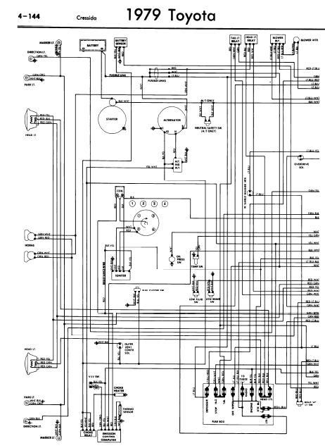 repair-manuals: Toyota Cressida 1979 Wiring Diagrams