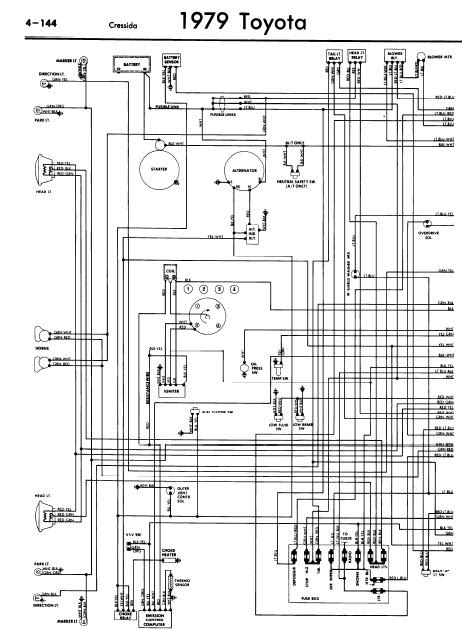 repairmanuals: Toyota Cressida 1979 Wiring Diagrams