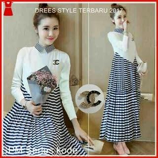 4SPM Kaos Tapi Dress Wanita Ala Gaya Korea Bj5004