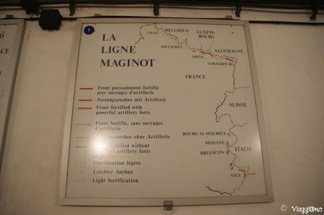 Pannello esplicativo della Linea Maginot