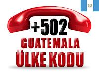 +502 Guatemala ülke telefon kodu