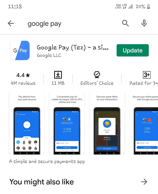 Update Google Pay app
