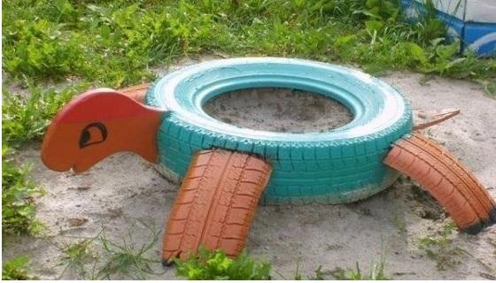 ideas para el jardín con neumáticos