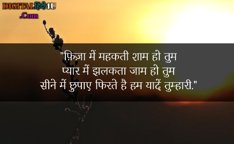 Hindi shayari on shaam