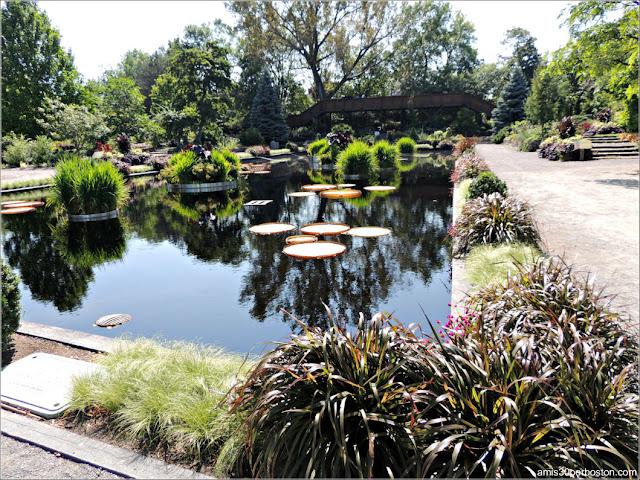 Fuente del Shrub Garden en el Jardín Botánico de Montreal