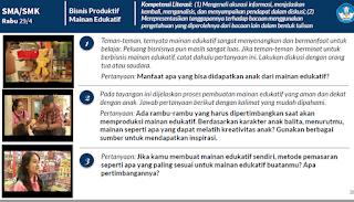 SMA/SMK Rabu 29/4 Bisnis Produktif Mainan Edukatif