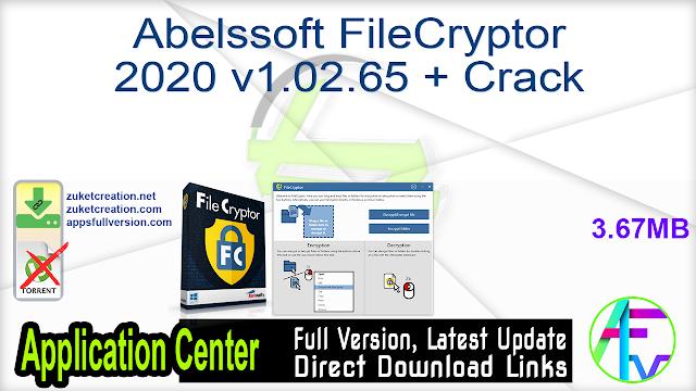 Abelssoft FileCryptor 2020 v1.02.65 + Crack