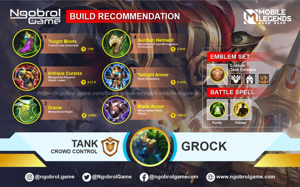 Build Grock Top Global Tersakit Mobile Legends