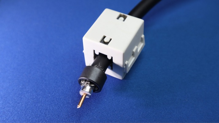 how to remove coaxial cable connector